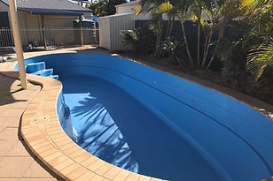 REEF POOLS - Pool resurfacin service. We resurface your pool with a new layer of fibreglas and apply new top coat.