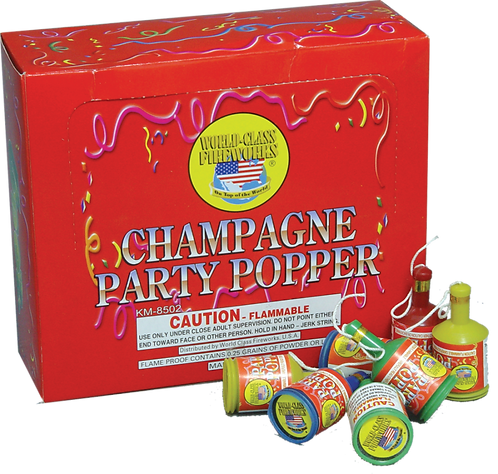 Party Poppers (72 pieces)