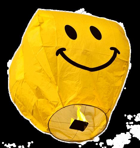 Sky Lantern Smiley Face