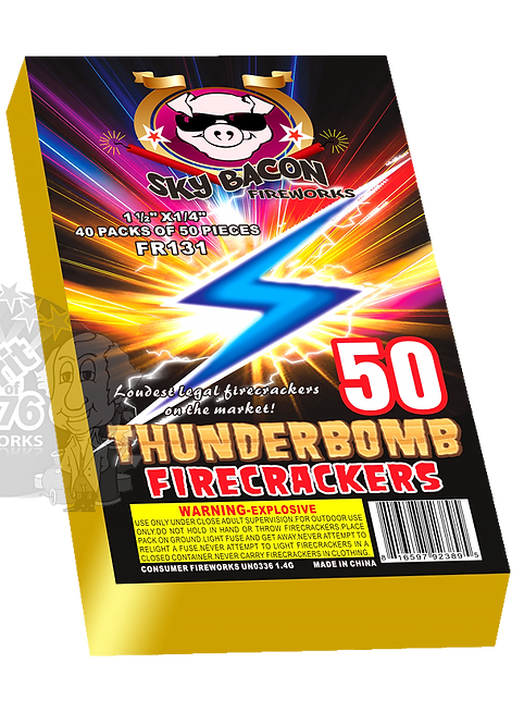 Thunderbomb Brick of 40 packs of 50 (2,000 firecrackers)