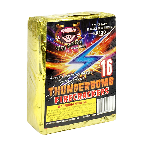 Thunderbomb Brick of 40 packs of 16 (640 firecrackers)