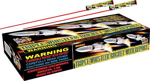 Triple Whistling Bottle Rockets