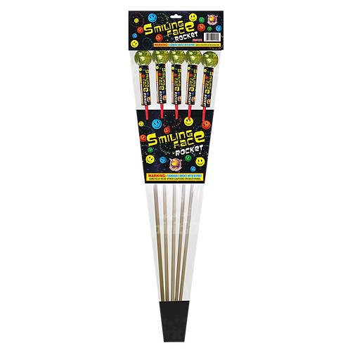 Smiley Face Rockets (5 pack)