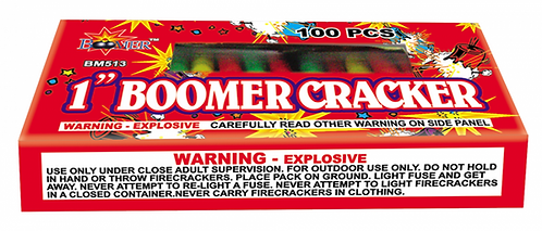 "1"" Boomer Crackers (100 pack)"