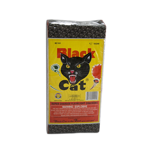 Black Cat Firecracker Brick (20 packs of 100 firecrackers)