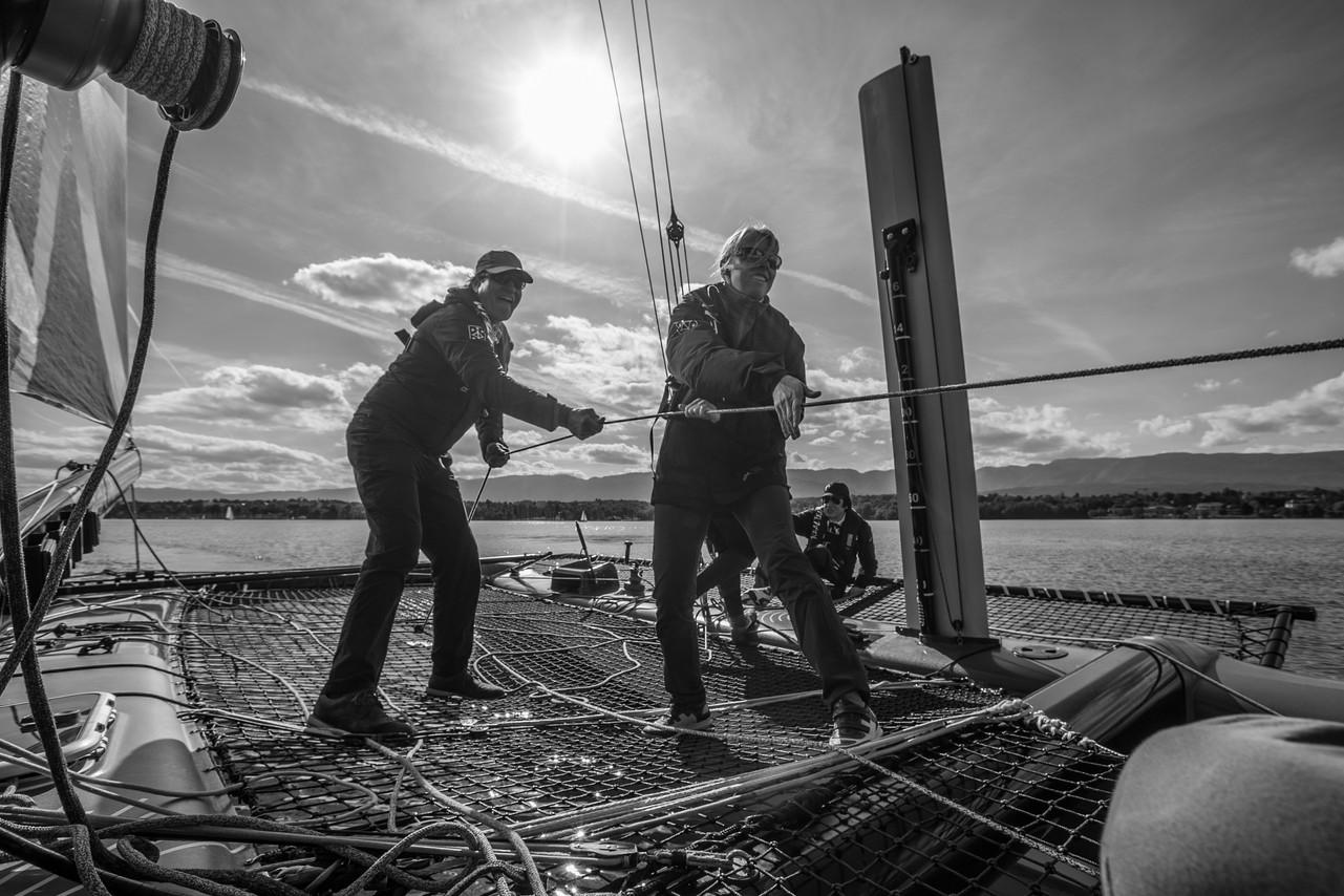Realteam, sortie catamaran
