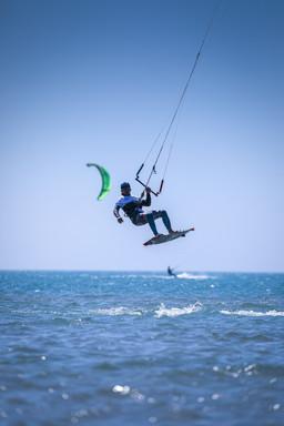 Kite surf Beauduc, France