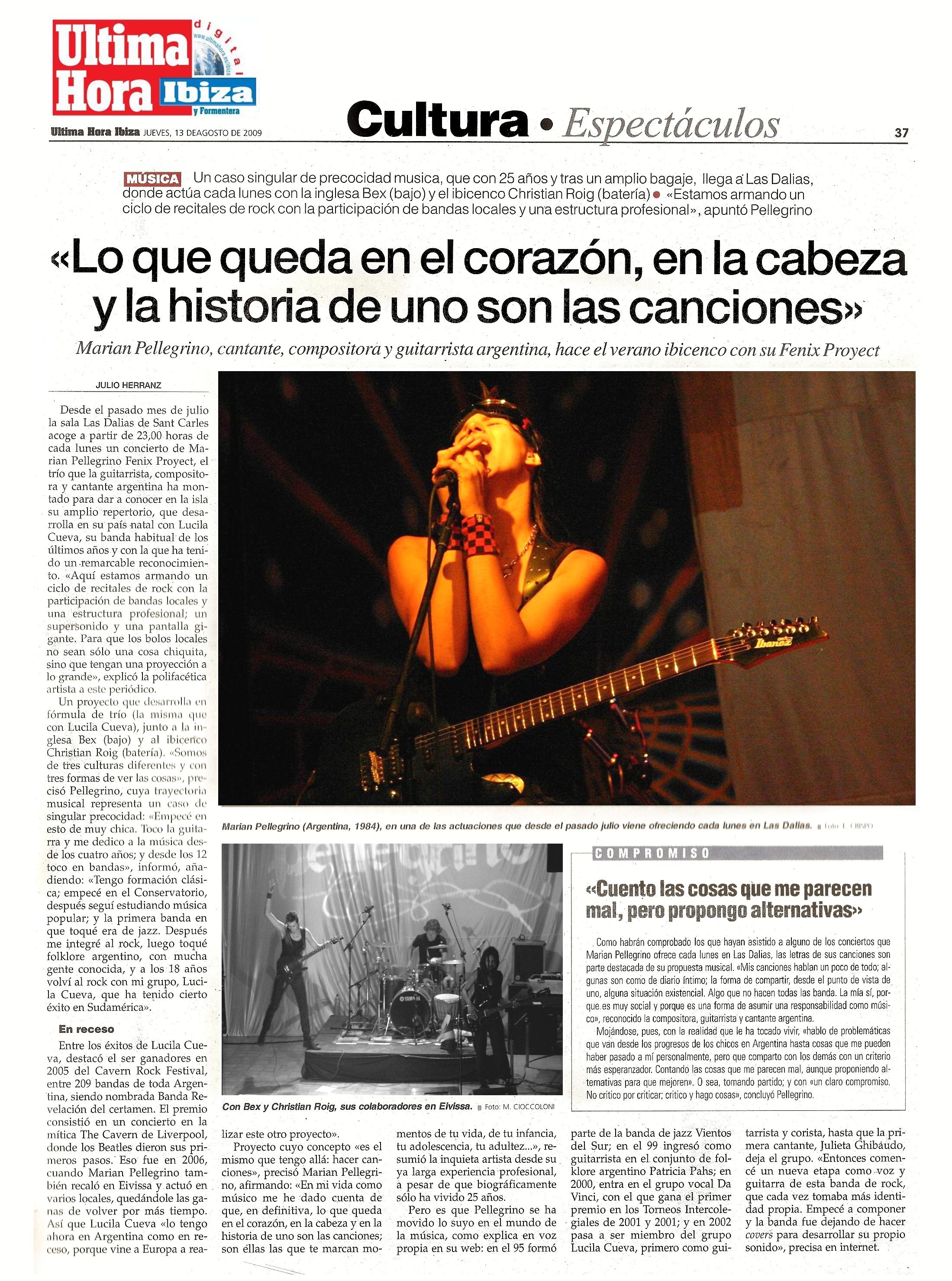 2009 08 - Diario Ultima hora Ibiza