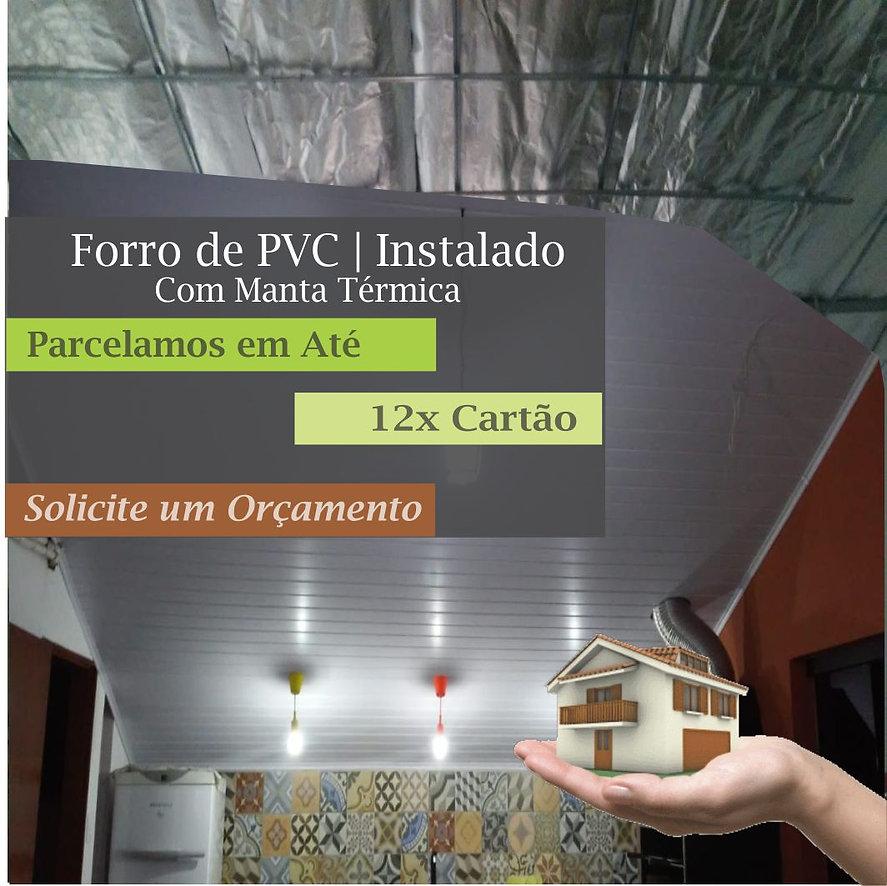 Forro de PVC Com Manta Térmica no Butantã.