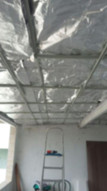 Forro de PVC com Manta Térmica | Isolamento Térmico.