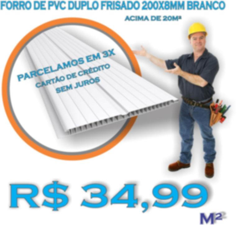 Forro de PVC Liso Instalado.