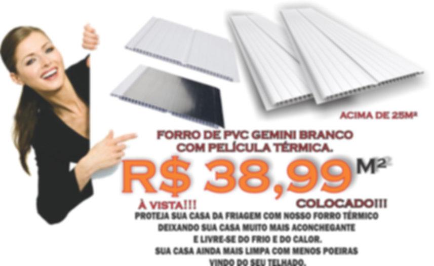 Forro de PVC Com Manta Térmica Instalado em São Paulo.