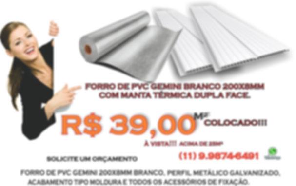 Forro de PVC | Manta Térmica