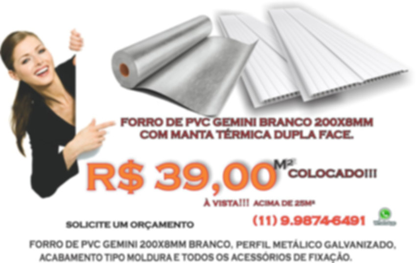 Forro de PVC com Isolamento Térmico