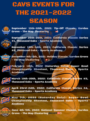 CAVS EVENTS