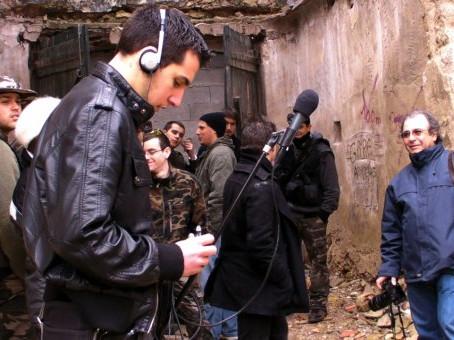 Le Studio Phocéen en tournage à Lançon-Provence le 24 Janvier 2010