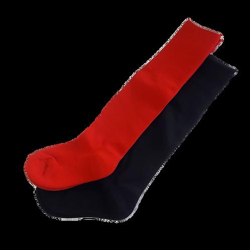 Soccer Sport Socks - Red/Black