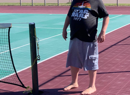 Tennis courts a great match for father and son