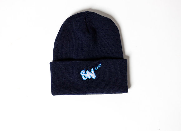Beanie Hat (Navy/White/Carolina)