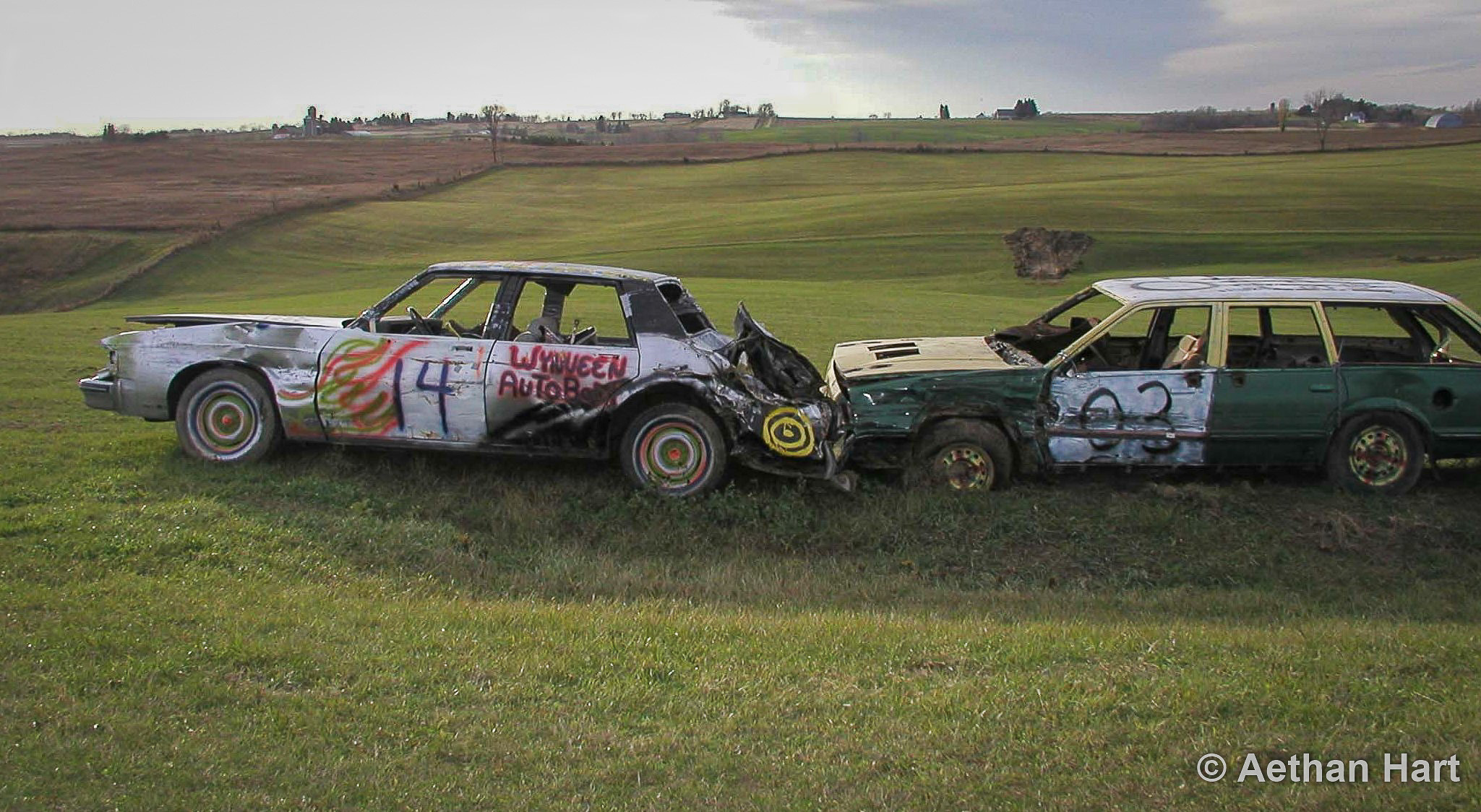 Wisconsin Cars in a Field