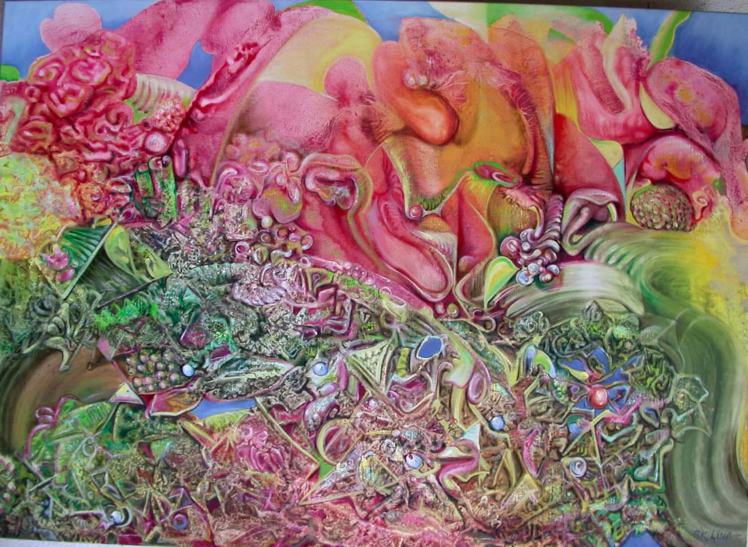 2004 hermetical garden(the cathedral)100x140