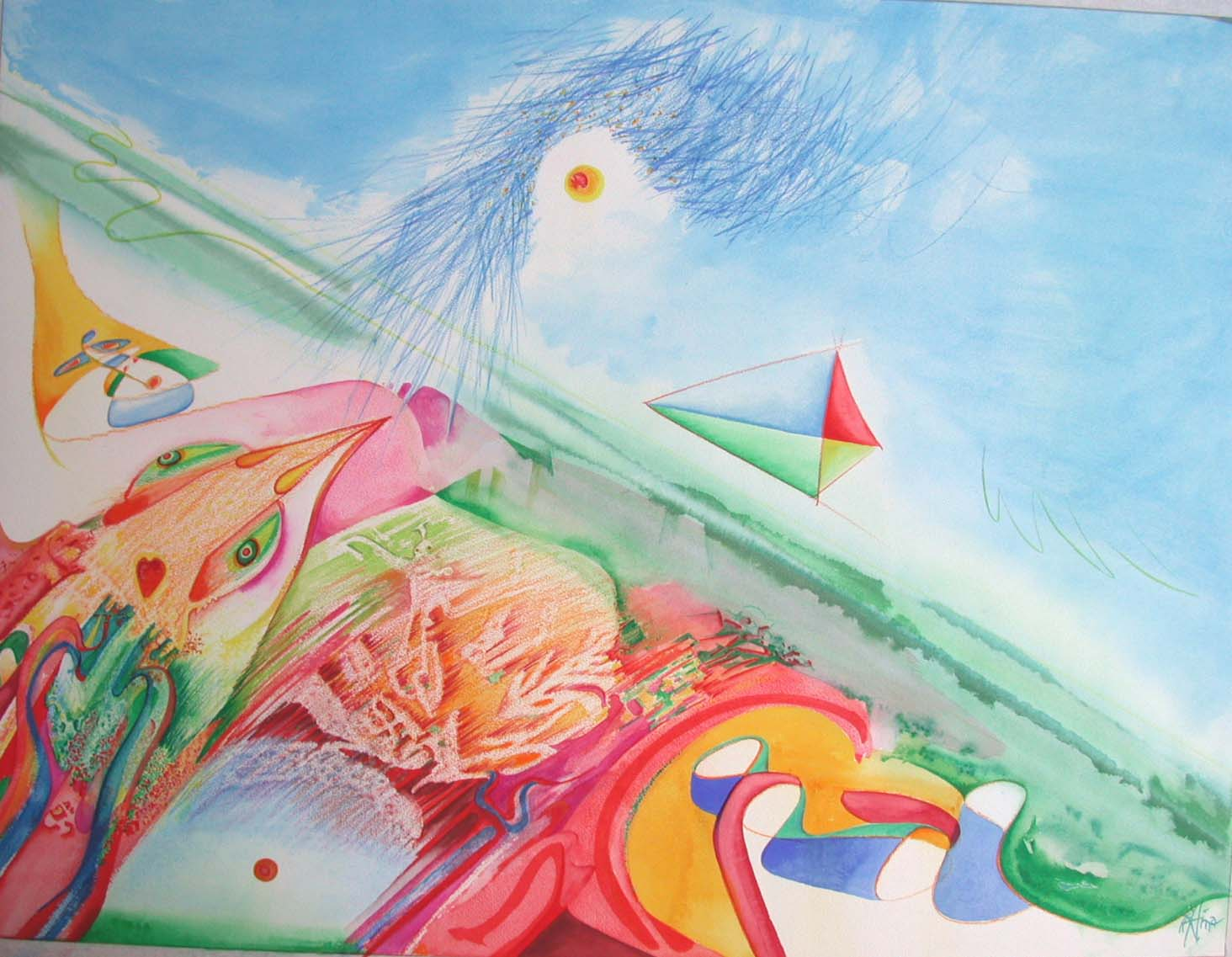 1970 fly a kite 50x66