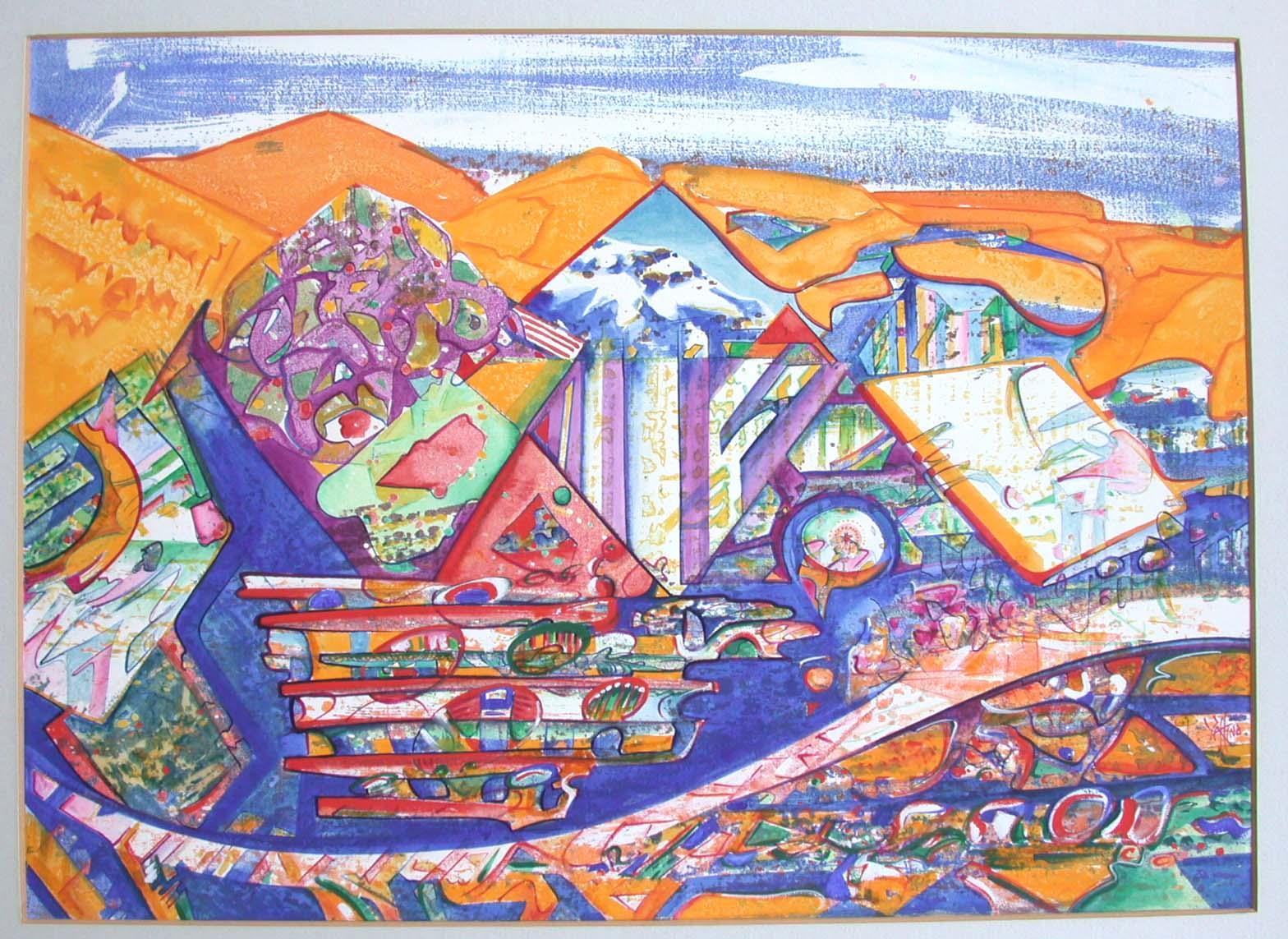 1973 hot mountain(homage Cesariny)39x54