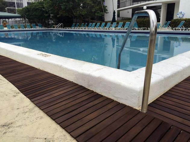 Area rugs floor mats around pool areas