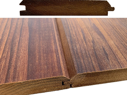 """4-Sides Oiled Thermo-treated WellDone Poplar siding T&G profile 7/8""""x5"""""""