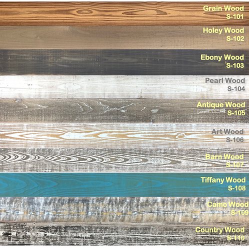 Wall Planks Choice of 10 Designs in the Boxes by 10 SF