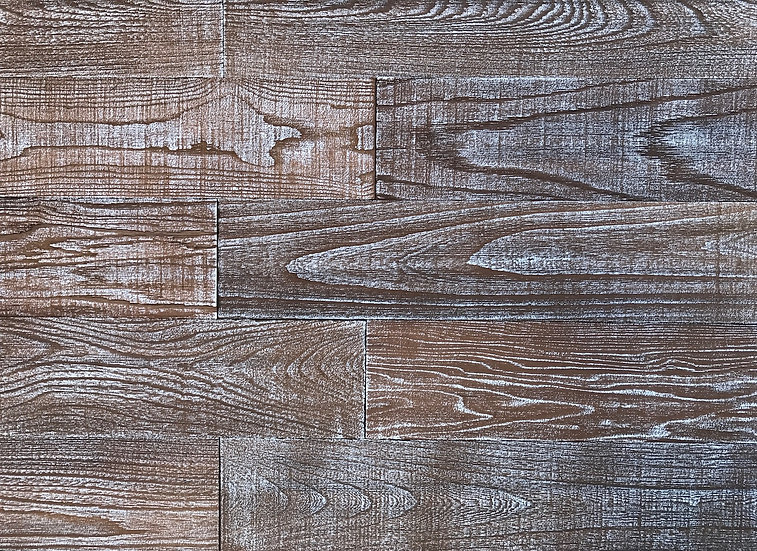 Whitewash Art Wood Oak Wall Planks (10 SF in a Box)