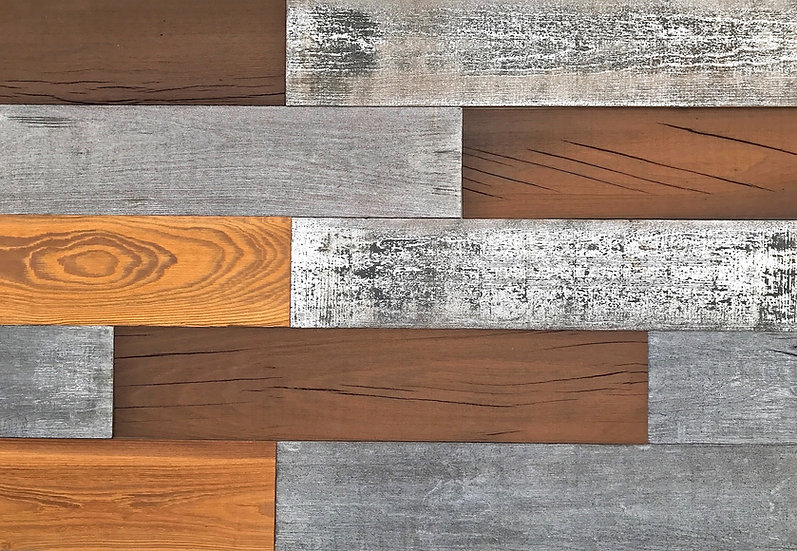 """Mixed Wood Wall Planks 5""""x24"""" (10 SF in a Box)"""