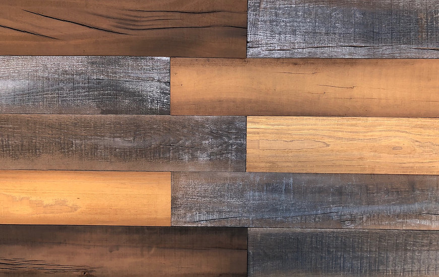 "Antique Mix Wood Wall Planks 5""x24"" (10 SF in a Box)"