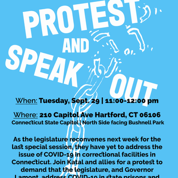 Join us to demand that the legislature tackle COVID-19 in prisons and jails!