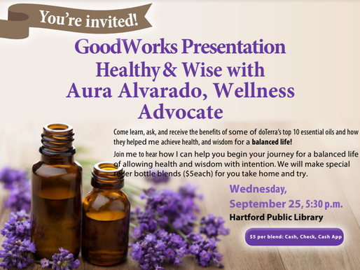 You're Invited!  Healthy & Wise with Aura Alvarado