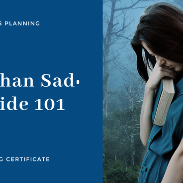 More Than Sad Suicide 101 Training Certificate