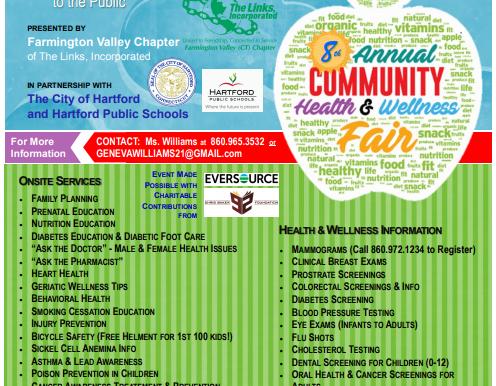 Health Fair - Saturday, October 6, 2018 (10am - 2pm)