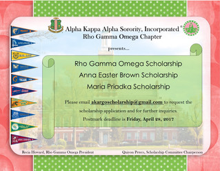Rho Gamma Omega Offering Scholarships to High School Seniors