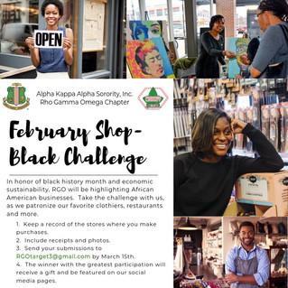February Shop Black Challenge