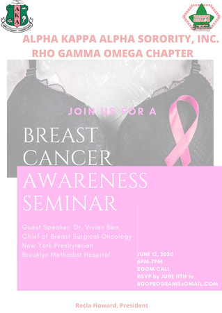 Upcoming Event: Breast Cancer Awareness Seminar