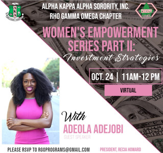 Upcoming Virtual Event: Women's Financial Empowerment Series Part II