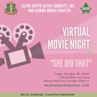 Upcoming Event: Virtual Movie Night