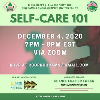 Self-Care 101: Upcoming Program