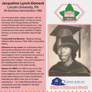 HBCU Spotlight: Jacqueline Lynch-Domeck