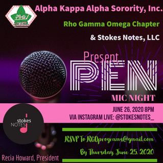 Upcoming Event: Virtual Open Mic Night