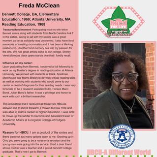 HBCU Spotlight: Freda McClean