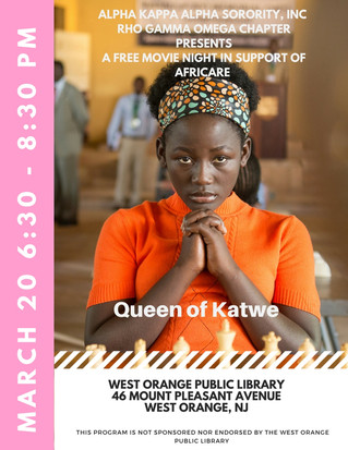 Rho Gamma Omega Free Movie Night: Queen of Katwe
