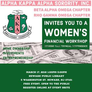 Register TODAY: Women's Financial Workshop Event!