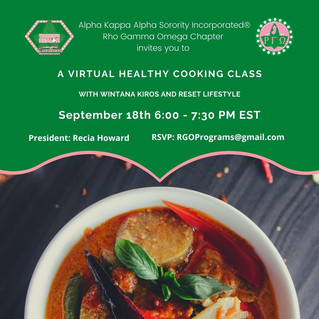 Upcoming Event: Virtual Healthy Cooking Class