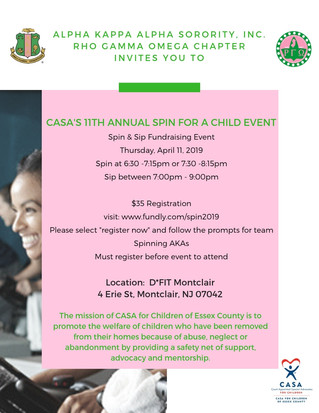 CASA: 11th Annual Spin for a Child Event